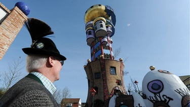 Hundertwasserturm in Abensberg | Bild: picture-alliance/dpa