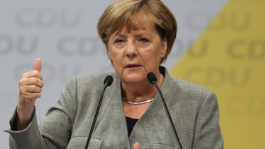 Angela Merkel in Dortmund | Bild: picture-alliance/dpa