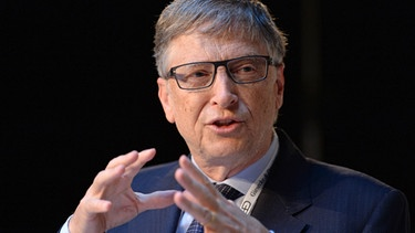 Microsoft founder Bill Gates speaks during a book presentation at the 53rd Munich Security Conference at Hotel Bayerischer Hof in Munich | Bild: picture-alliance/dpa/AA/ABACA