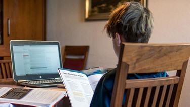 Symbolbild: Homeschooling | Bild: picture-alliance/dpa