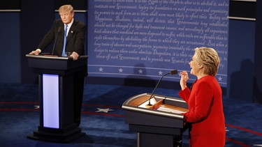 TV-Duell Hillary Clinton und Donald Trump | Bild: picture-alliance/dpa