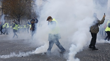 Protest der Gelben Westen in Paris | Bild: picture-alliance/dpa