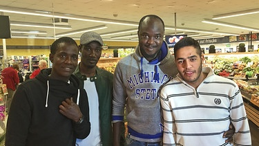 Souleymane, Mor, Alioune, Achmad | Bild: BR/Andreas Herz