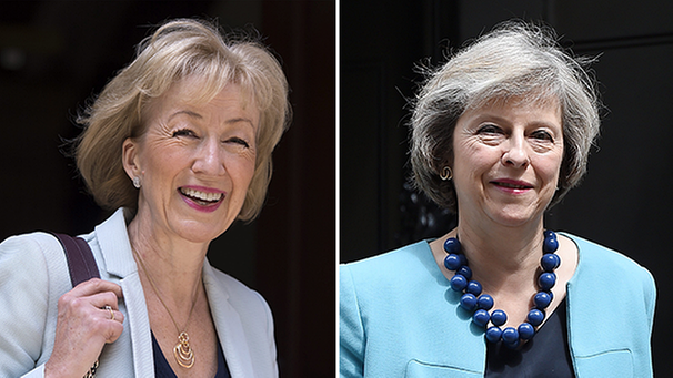 Andrea Leadsom - Theresa May | Bild: picture-alliance/dpa