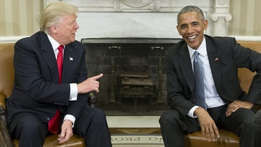 Donald Trump und Barack Obama | Bild: picture-alliance/dpa/Michael Reynolds