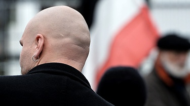 Symbolbild: Demonstration von Neonazis in Wunsiedel | Bild: picture-alliance/dpa