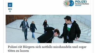 Die polizei rät: die partei, fanclub | bild: screenshot