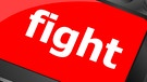 "Computertastatur mit dem Wort ""fight"". 