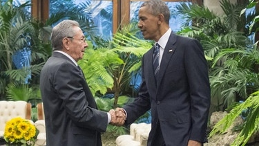Raul Castro und Barack Obama in Havana | Bild: picture-alliance/dpa