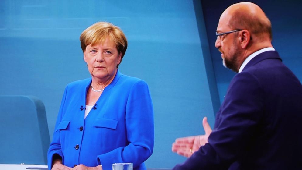 TV-Duell: Merkel und Schulz: Ziemlich beste Freunde ...