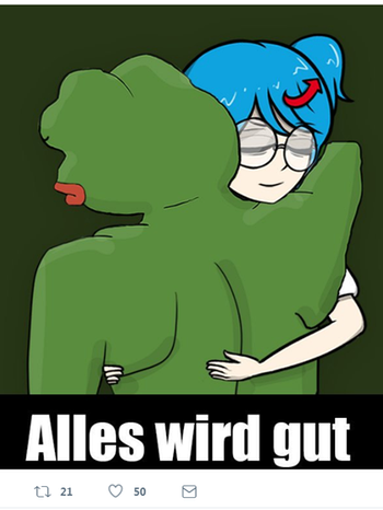 Petry und Pepe the Frog | Bild: BR / Buzzfeed