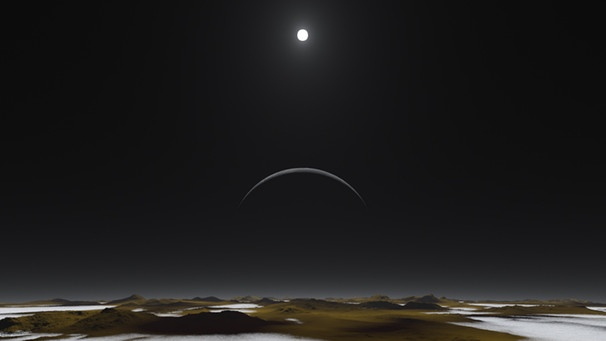 Mittag auf Pluto | Bild:  NASA / Southwest Research Institute / Alex Parker