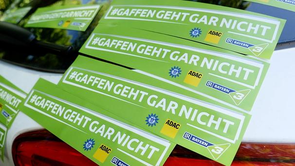 Initiative von BAYERN 3, ADAC und Deutscher Polizeigewerkschaft  | Bild: BR/Christian Teubig