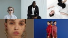 Collage von Stormzy, FKA twigs, Pish, Two Door Cinema Club, SCHWARZ | Bild: Matthew Stone, Pish, Tanja Tikarli, Stormzy, Two Door Cinema Club
