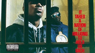 "Cover des Albums ""It Takes A Nation Of Millions To Hold Us Back"" von Public Enemy 