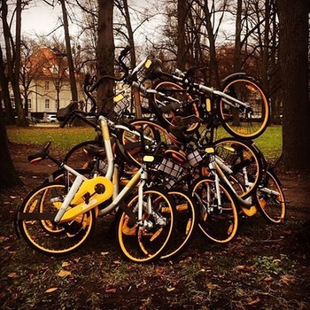 Usual gathering. First night-out is close! Keep them pictures coming! #obikesofmunich #munich #münchen #münchenistdiegeilstestadtderwelt #minga #gathering #orange | Bild: obikesofmunich (via Instagram)