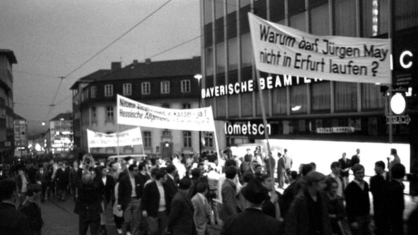 Politik im Sport // Demonstration für Jürgen May 1970 | Bild: picture-alliance/dpa