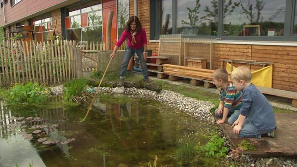 Elegant Teich Bauen Mit Kindern | Bild: BR