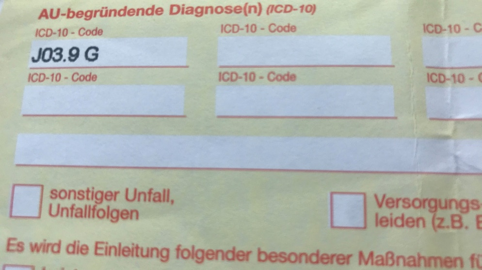 Diagnoseschlüssel Das Bedeutet Der Icd 10 Code Bayern 1 Radio Br De