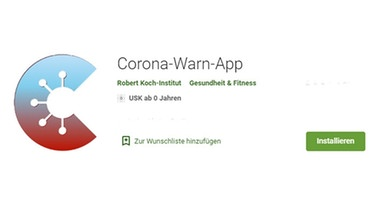 Das Icon der Corona-Warn-App im Google Play Store | Bild: Screenshot