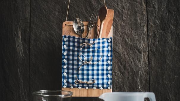 Deko für die Küche : Rustikalen Besteckhalter selber machen ...