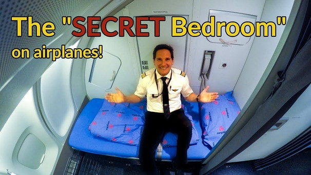 Where do PILOTS+FLIGHT ATTENDANTS sleep on PLANES?Explained by CAPTAIN JOE | Bild: Captain Joe (via YouTube)