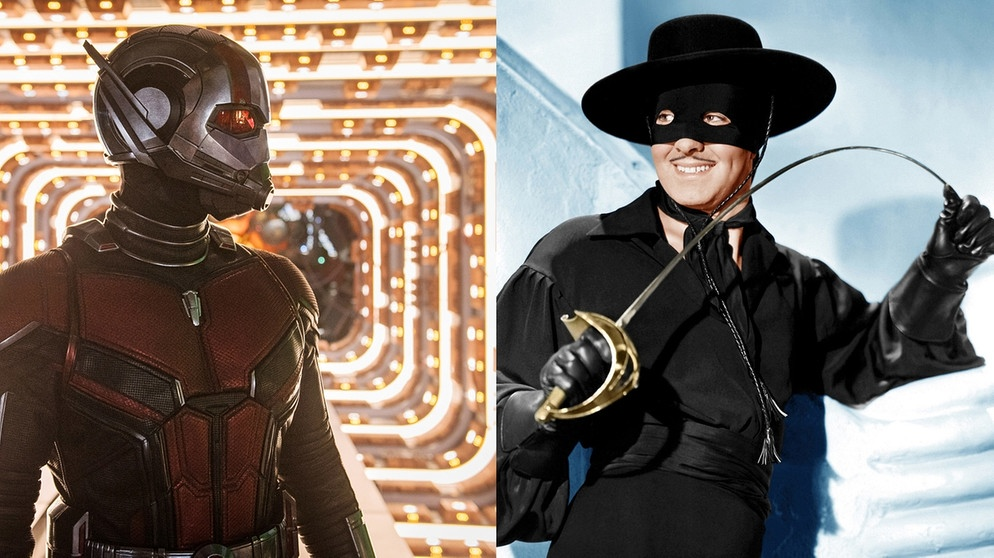 ANT-MAN (2018) und Zorro (1940) | Bild: picture alliance/Everett Collection; Montage: BR