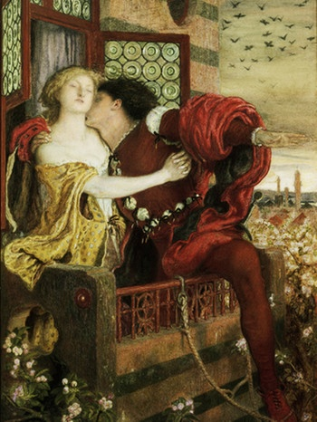 Romeo und Julia, Gemälde, 1867, von Ford Madox Brown (1821-1893) | Bild: picture alliance/akg-images/André Held