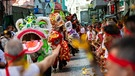 "Das ""drunken dragon festival"" in Macau 