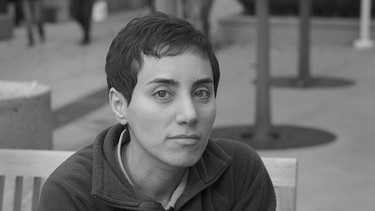 Portrait der verstorbenen Mathematikerin Maryam Mirzakhani | Bild: picture alliance