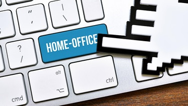 Computertastatur mit Homeoffice-Taste | Bild: picture-alliance/dpa