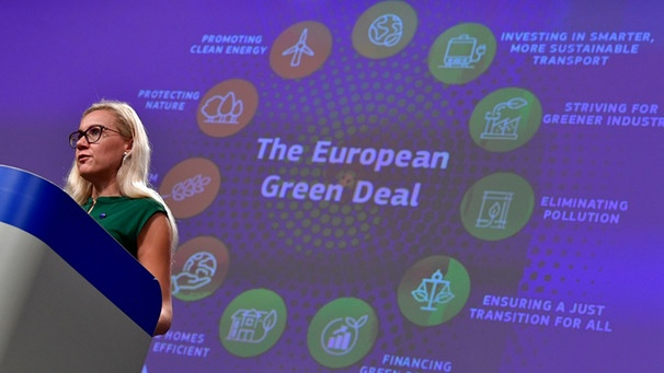 The European Green Deal mit der  European Commissioner for Energy Kadri Simson | Bild: picture-alliance/dpa
