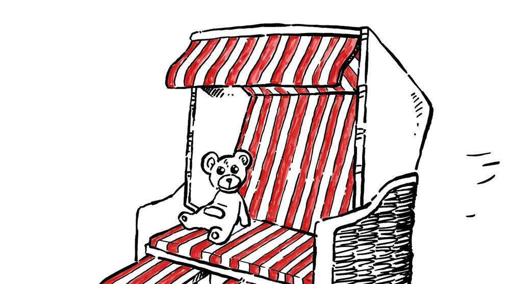 Strandkorb zeichnung  15. Juni 1882: Der erste Strandkorb wird aufgestellt | Das ...