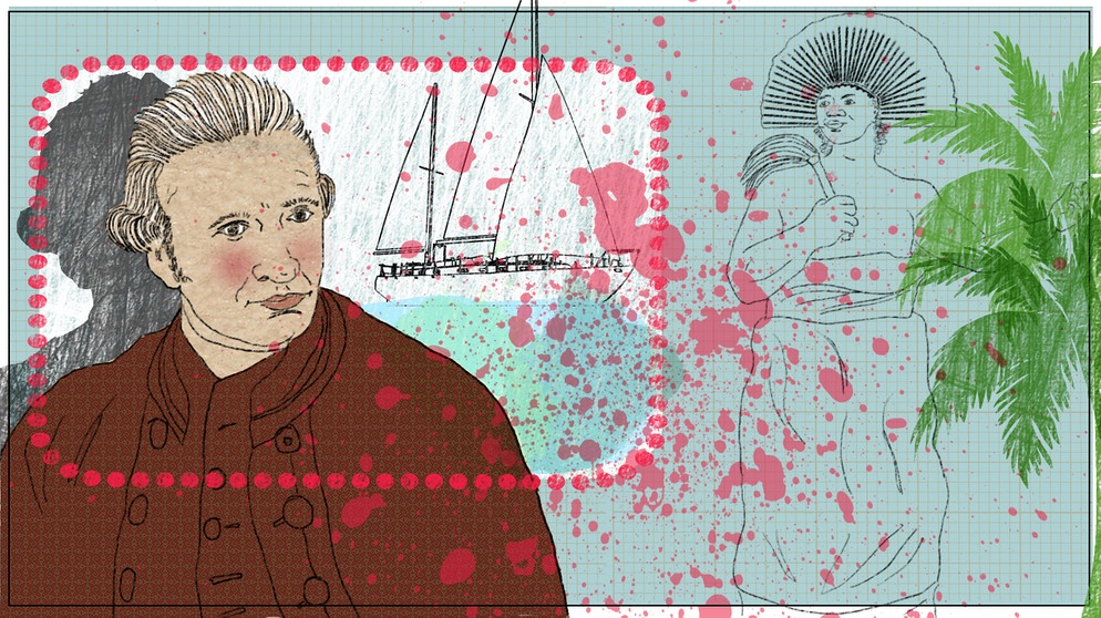 Illustration Kalenderblatt: James Cook getötet | Bild: BR/Angela Smets