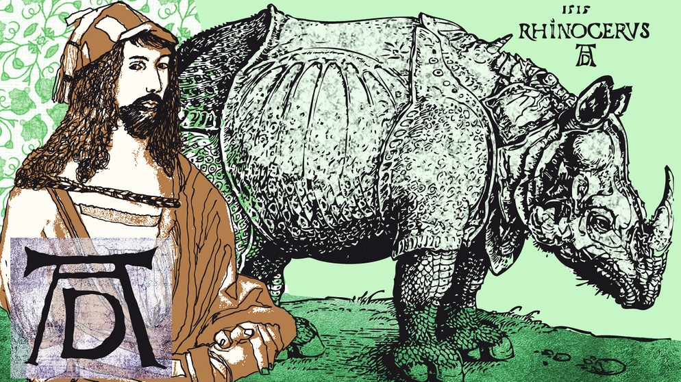 20 mai 1515 d rers rhinozeros kommt nach europa das kalenderblatt wissen bayern 2. Black Bedroom Furniture Sets. Home Design Ideas