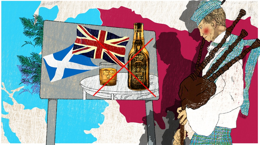 Illustration Kalenderblatt: Schottland stimmt dem Act of Union zu  | Bild: BR/ Angela Smets