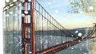 Illustration des Kalenderblatts: Baubeginn der Golden Gate Bridge | Bild: BR/ Rosyk
