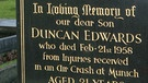 Der Grabstein von Duncan Edwards in Dudley (West Midlands) | Bild: picture-alliance/dpa
