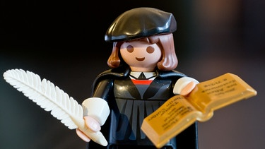 Martin Luther als Playmobil-Figur | Bild: picture-alliance/dpa