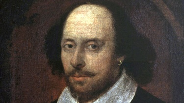 Das so genannte Chandos-Porträt von William Shakespeare in der National Portrait Gallery in London | Bild: picture-alliance/dpa