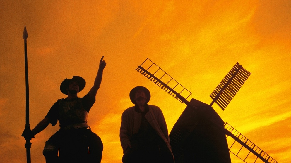 Cervantes-Figuren: Don Quijote und Sancho Pansa | Bild: picture-alliance/dpa