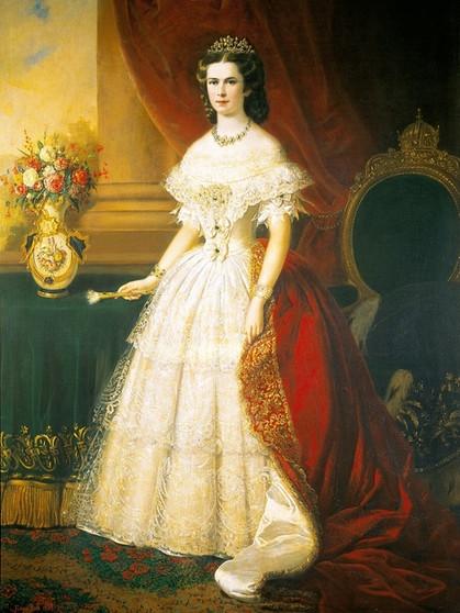 Elisabeth von Österreich - Porträt von Franz Russ  Bild: picture ...