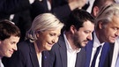 Nationalisten Petry, Le Pen, Salvini, Wilders | Bild: picture-alliance/dpa