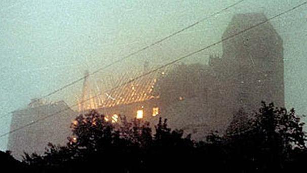 wahrzeichen  flammen grossbrand auf burg trausnitz
