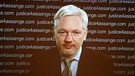 Julian Assange während ein Video-Konferenz am 05.02.2016 | Bild: picture-alliance/dpa