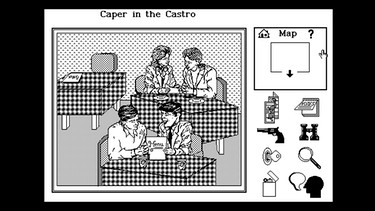 "Screenshot des Spiels ""Caper in the Castro"" 