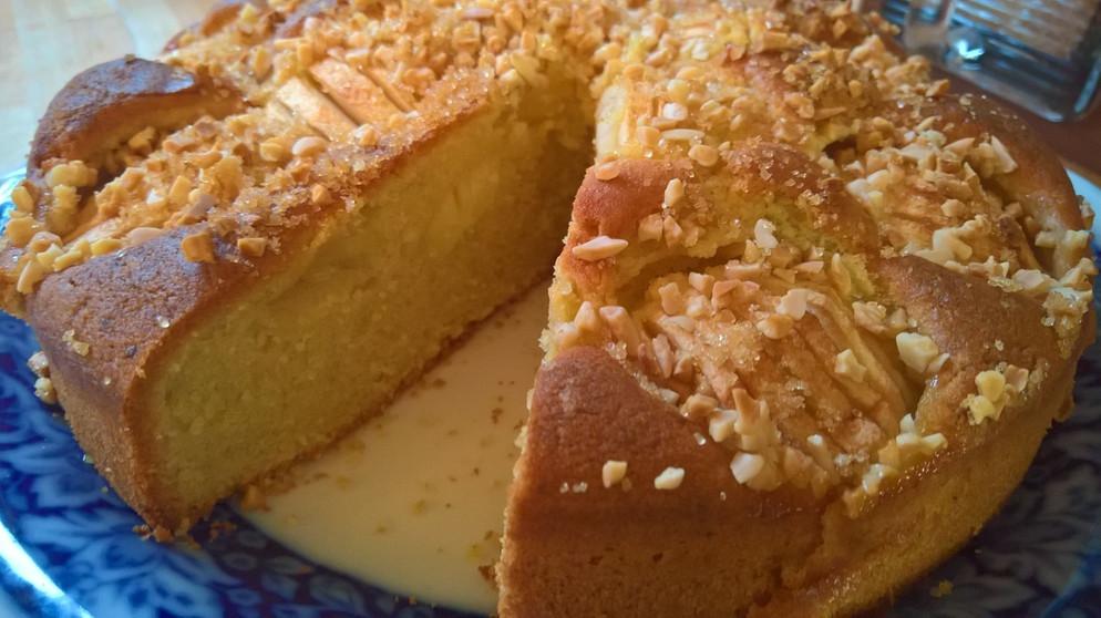 Apfelkuchen mit dinkelmehl und rohrzucker