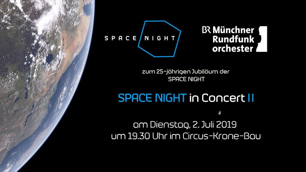 "Tafel zum Konzert ""SPACE NIGHT in Concert II"" am 2.7.2019 