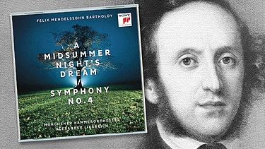 "CD-Cover: ""Sommernachtstraum"", Komponist Felix Mendelssohn Bartholdy 