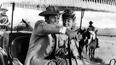 "Gordon MacRae und Shirley Jones in Musicalfilm ""Oklahoma!"" von 1955 